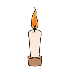 Color image cartoon decorative candle spa in vector