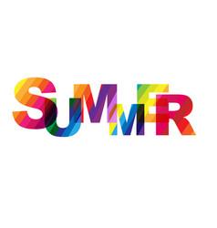 Summer text vector