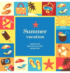 Summer vacation frame vector