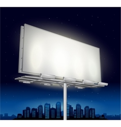 Highway ad billboard roadside at night vector