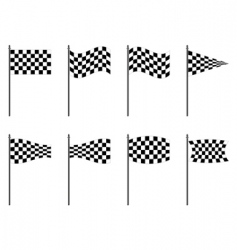 Checkered flags collection vector