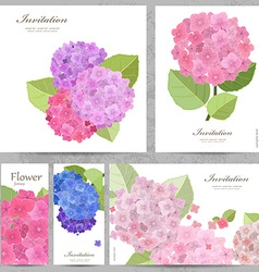 Greeting cards with collection of beautiful vector