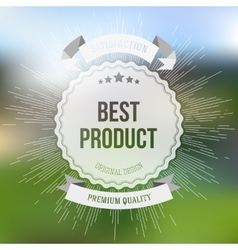 Best product sticker isolated on blurred vector