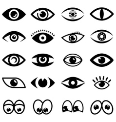 Eyes icon set vector