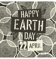 Happy earth day logotype with 22 april date on vector