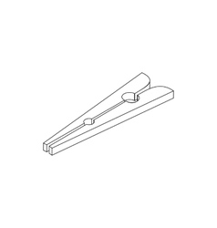 Clothespin icon isometric 3d style vector