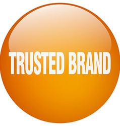 Trusted brand orange round gel isolated push vector