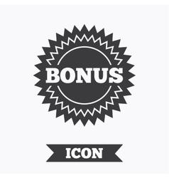 Bonus sign icon special offer star symbol vector