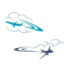Airlanes in sky vector image