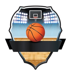 Basketball Badge vector image vector image