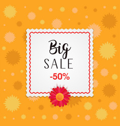 Big sale banner design with frame and different vector