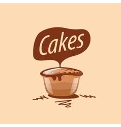 cake logo vector image vector image