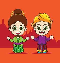 Cartoon asean indonesia vector