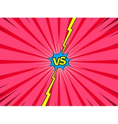 Comic versus battle intro background vector