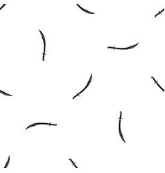 Cutlass pattern seamless black vector