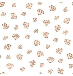 Diamond seamless pattern golden hand drawn vector