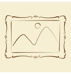 Elegant sketched picture frame vector image vector image