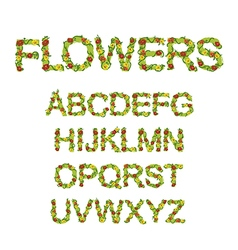 Flowers font vector