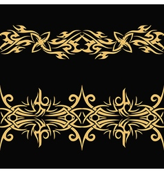 Gold celtic pattern vector