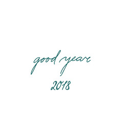 Happy new year sign handwritten lettering good vector
