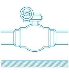 Industrial tap vector image