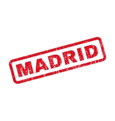 Madrid Rubber Stamp vector image vector image