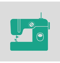 Modern sewing machine icon vector