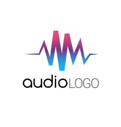 Music Logo concept sound wave studio music DJ vector image