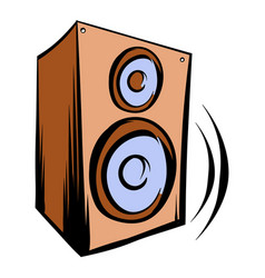 Music speaker iicon cartoon vector