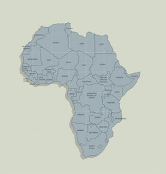Original map of the african continent vector