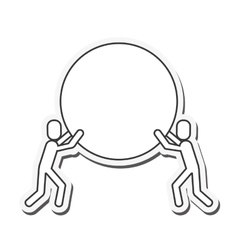 People holding circle icon vector