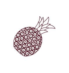 Pineapple sweet fruit line vector