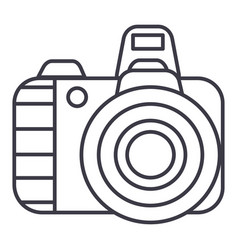professional photo camera line icon sig vector image vector image