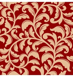 Seamless pattern with decorative flourishes vector