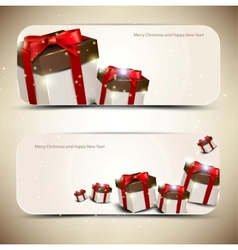 Set of elegant banners with gifts vector image vector image
