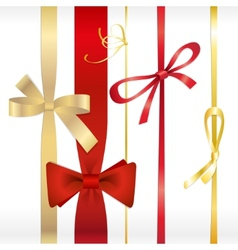 set of ribbons bows vector image vector image