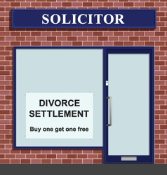 Solicitor divorce settlement offer vector