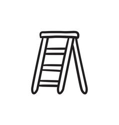 Stepladder sketch icon vector