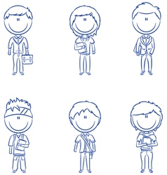 Students boys vector image