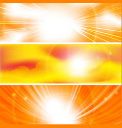 sun ray banners vector image vector image