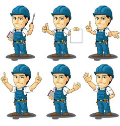 Technician or repairman mascot 3 vector
