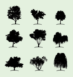 Tree collection flat icon vector