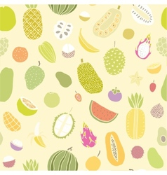 Tropical fruits seamless pattern vector image