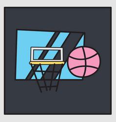 Unusual look dribbble social media icon vector