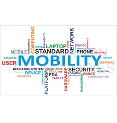 word cloud mobility vector image vector image