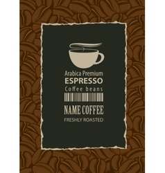 design label for coffee beans vector image
