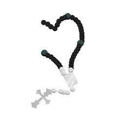 rosary catholic faith vector image
