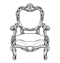 Imperial baroque armchair with luxurious ornaments vector