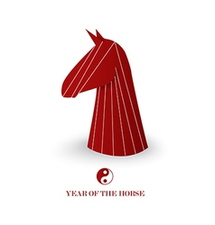 Chinese new year of the horse red chess figure vector