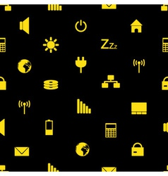 Laptop and pc indication icons pattern eps10 vector